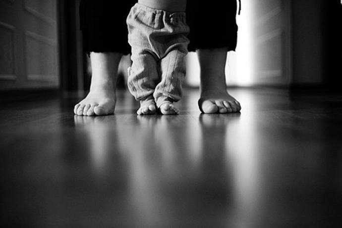 father-son-black-and-white-photo