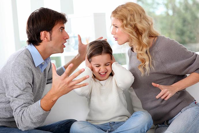 parents arguing over child