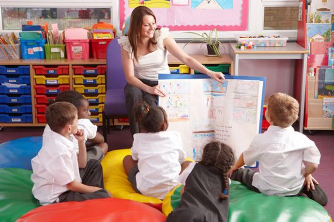 School children and Teacher