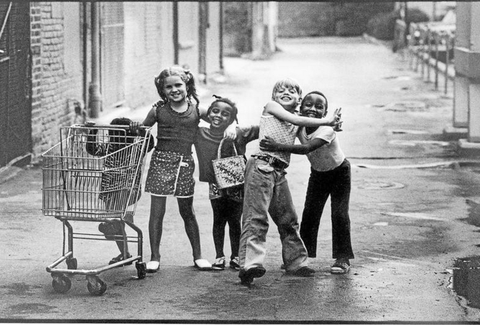 This 1973 photo of five children playing in a Detroit suburb has gone viral on the Internet. The children were Rhonda Shelly, 3 (from left), Kathy Macool, 7, Lisa Shelly, 5, Chris Macool, 9, and Robert Shelly, 6.